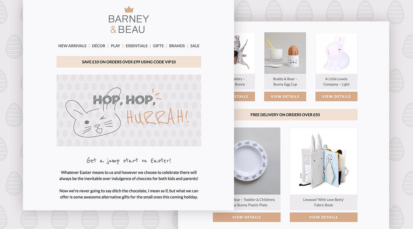 Barnery & Beau Ecommerce Emailer